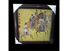 上海/供应彩色影雕画,古典影雕画,唐代人骑马雕刻,悠闲生活雕刻...