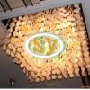 供应贝壳灯具雕刻,浪漫淡黄色贝壳灯饰雕刻,客厅装饰,升耀装饰