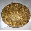 供应黄虎眼石台面,圆形台面板加工,桌面装饰,升耀装饰