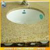 供应艺术洗手台面板,黄色花岗岩板材,板材加工,浩博石业