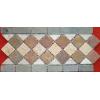 供应菱形马赛克工艺,锈色板岩石材加工,灰色板岩,康利德工艺