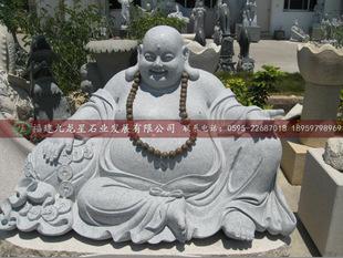 厂家直销 汉白玉石雕送财弥勒佛 大肚弥勒佛雕像