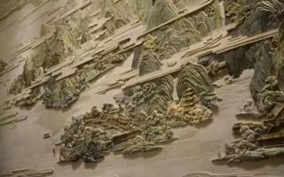 中国最大彩玉浮雕壁画——《东湖盛景图》