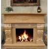 石雕欧式壁炉 大理石精美雕花欧式风格壁炉雕刻