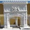 石雕欧式壁炉 别墅客厅装饰双层欧式壁炉