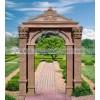 欧式石雕门套 晚霞红精美雕葡萄图案大理石门套