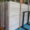 厂家 贵州白木纹石马赛克 2cm白色大理石板矿山直销