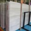 厂家 贵州白木纹石马赛克 2cm白色大理石板 矿山直销