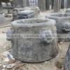 仿古石雕井口 年年有余 吉祥如意六角井口雕刻