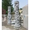 曲阳石雕龙柱子 二龙戏珠龙柱子雕刻