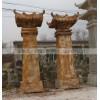 石雕龙柱 汉白玉晚霞红龙柱华表 各式柱子雕刻