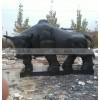 园林景观石雕牛 开荒牛崛起拓荒斗牛 青石石雕牛雕刻