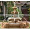 石雕喷泉 大型喷泉水池 欧式花岗岩精美雕花喷泉雕刻