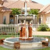 欧式石雕喷泉 大理石拼色美女大气典雅喷泉 大型流水喷泉雕刻