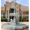 石雕欧式动物喷泉 大理石喷泉 马与狮子头喷水喷泉雕刻