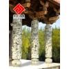 供应仿古龙柱,花岗岩实心柱雕刻
