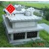 供应中式墓碑配套,花岗岩浮雕工艺,动物雕刻